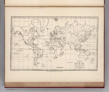 Facsimile:  Langsdorff's Map of the World.