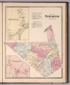 Town of Newcastle, Westchester County, New York.  (insets)  Newcastle.  Chappaqua.