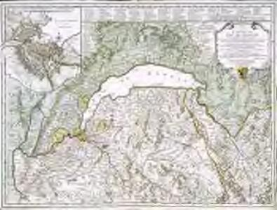 Carte du lac de Geneve et des pays circonvoisins