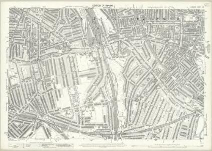 London (Edition of 1894-96) CIV (includes: Deptford St Paul) - 25 Inch Map