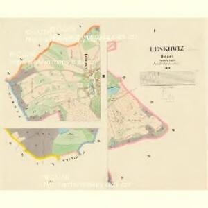 Leskowiz - c3866-1-002 - Kaiserpflichtexemplar der Landkarten des stabilen Katasters