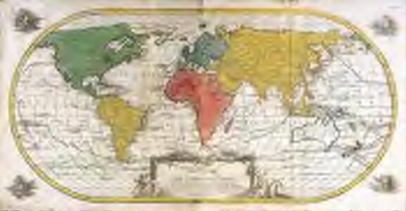 Mappe monde ou carte générale de l'univers