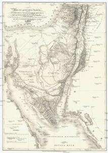 Karte des peträischen Arabien und des südlichen Theiles von Sirien