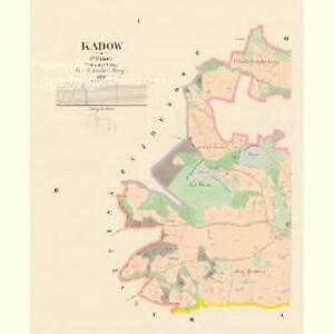 Kadow - c2970-1-001 - Kaiserpflichtexemplar der Landkarten des stabilen Katasters