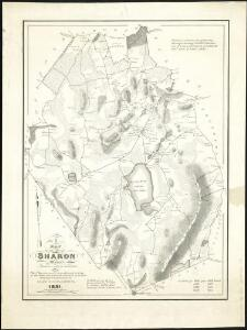 A map of the town of Sharon, Mass. : formerly a part of Stoughton