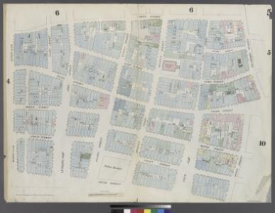 [Plate 5: Map bounded by Frankfort Street, Franklin Square, Dover Street, South Street, Maiden Lane, Gold Street]