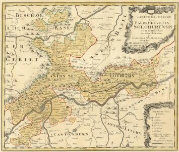 Canton Solothurn Sive Pagus Helvetiae Solodurensis cum Confinibus recenter delineatus