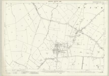 Buckinghamshire XXIII.10 (includes: North Marston; Oving; Pitchcott; Whitchurch) - 25 Inch Map