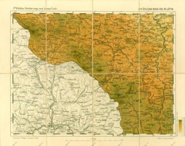 Podrobné mapy zemí Koruny české v měřítku 1:75.000 a mapa vzdáleností všech míst při silnici ležících - Železná Ruda - Dolní Rejštejn. Průvodce statisticko-historický po všech místech na těchto mapách uvedených a rejstřík věcný názvů hor, potoků, řek, rybníků atd. Sešit 40. List 24,