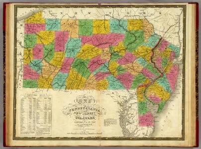 Map of Pennsylvania, New Jersey, and Delaware.
