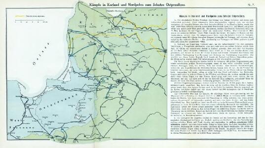 Nr. 7. Kämpfe in Kurland und Nordpolen zum Schutze Ostpreußens