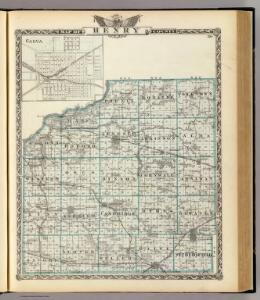 Map of Henry County and Galva.