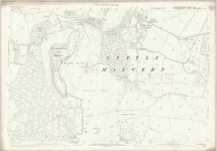 Worcestershire XLVI.12 (includes: Castlemorton; Colwall; Ledbury Rural; Little Malvern; Welland) - 25 Inch Map
