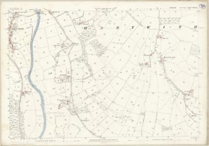 Yorkshire CXXXVI.14 (includes: Dacre; Hartwith Cum Winsley) - 25 Inch Map