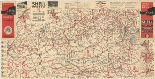 Strassen Zustands-Karte und Stadtpläne mit Durchfahrten von Österreich