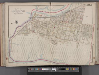 Bergen County, V. 1, Double Page Plate No. 12 [Map bounded by Hackensack River, Hackensack Ave., Township of Teaneck, Overpeck Creek] / by George W. and Walter S. Bromley.