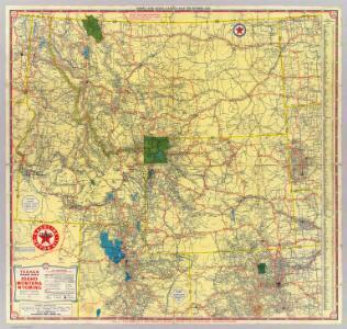 Road map Idaho, Mont., Wyo.