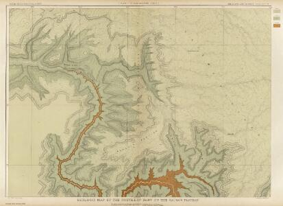 Geologic Map Of The Southern Part Of The Kaibab Plateau. [Part I. North-Western Sheet.]