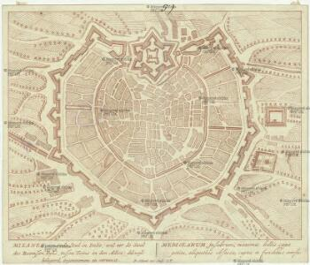 Milanen, een oude Stad in Italie, vel eer de Stoel des Roomssen Ryks, tussen Tucino en den Adice, dikwyls belegerd, ingenoomen en verwoest