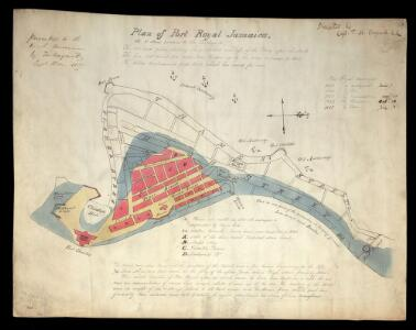 Plan Of Port Royal Jamaica, As It Stood Previous To The Earthquake