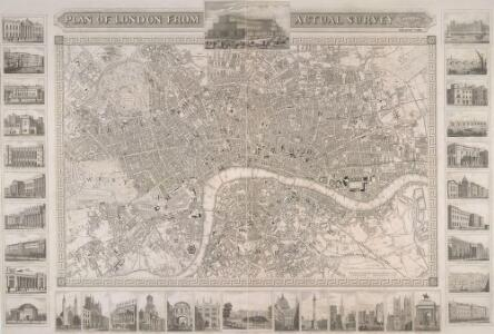 PLAN OF LONDON FROM AN ACTUAL SURVEY WITH ALL THE RAILROADS AND IMPROVEMENTS TO THE PRESENT TIME