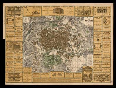 Plano industrial y comercial de Madrid / publicado por Juan Calvet