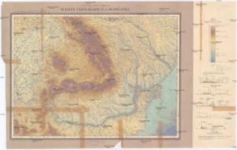 Harta orografică a României