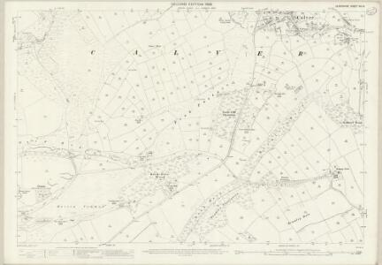 Derbyshire XVI.16 (includes: Baslow and Bubnell; Calver; Curbar; Great Longstone; Hassop; Stony Middleton) - 25 Inch Map