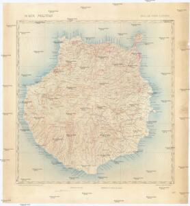 Mapa militar isla de Gran Canaria