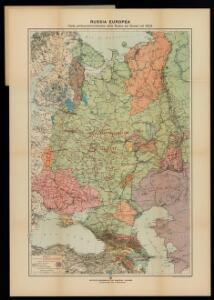 Russia Europea: Carta politica-administrativa della Russia dei Sovieti nell 1923
