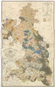 Administrativní mapa třeboňského panství se statky Bzí a Borovany s vyznačením vodních toků 1