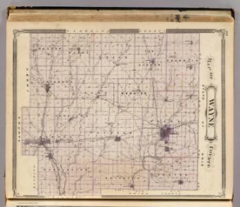 Map of Wayne County.