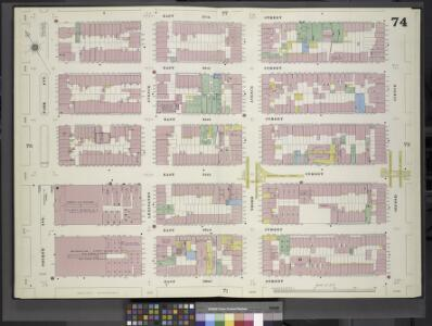 Manhattan, V. 4, Double Page Plate No. 74 [Map bounded by East 37th St., 2nd Ave., East 32nd St., Park Ave.]