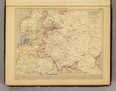 Russie, Pologne, Suede, Norwege, Danemarck en 1840.