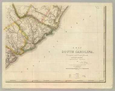 Map Of South Carolina (southeast portion)