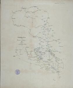 Übersichts-Karte zu den Operationen des Feldzuges 1761 in Schlesien von Anfang July bis zum Schluss