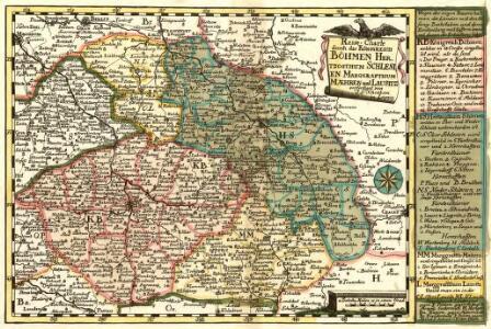 Reise-Charte durch das Königreich Böhmen Hertzogthum Schlesien Marggrafthum Maehren und Lausitz