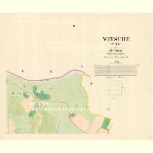 Witsche (Wiče) - m3395-1-002 - Kaiserpflichtexemplar der Landkarten des stabilen Katasters