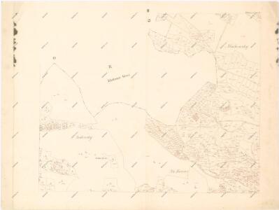 Katastrální mapa obce Velenovy