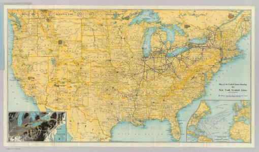 U.S. showing NY Central Lines.