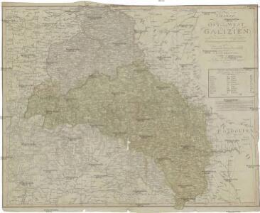 Charte von Ost und West Galizien