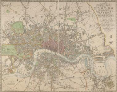 NEW PLAN OF LONDON AND THE ENVIRONS from an Original Survey EXTENDING 6 3/4 Miles North & South in which all New and Intended Buildings and Improvements are carefully Inserted