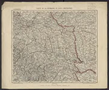 Carte de la Roumanie et pays limitrophes. Lemberg
