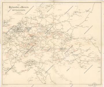 Karte der Heilquellen und Kurorte von Mittel - Europa
