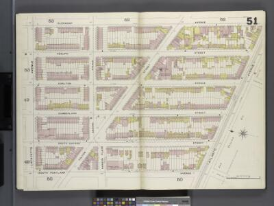 Brooklyn V. 2, Double Page Plate No. 51 [Map bounded by Clermont Ave., Atlantic Ave., S.Portland Ave., Lafayette Ave.]