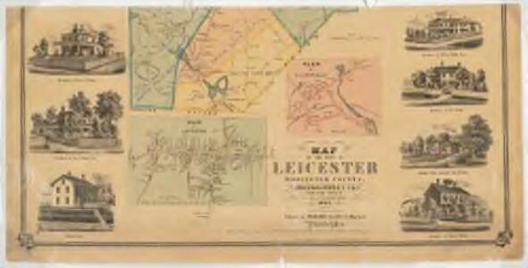 Map of the town of Leicester, Worcester County, Massachusetts : from actual survey : Southern sheet