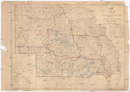 Sketch map shewing rabbit board districts and rabbit proof fence, Queensland