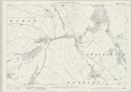 Somerset VIII.9 (includes: Batheaston; Charlcombe; Swainswick) - 25 Inch Map