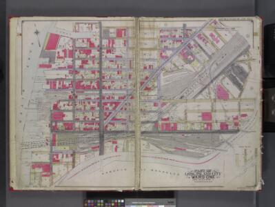 Queens, V. 2, Double Page Plate No. 1; Part of Long Island City, Ward 1; [Map bounded by 12th St., Ashburn St., Newtown Creek, East River] / by and under the supervision of Hugo Ullitz.