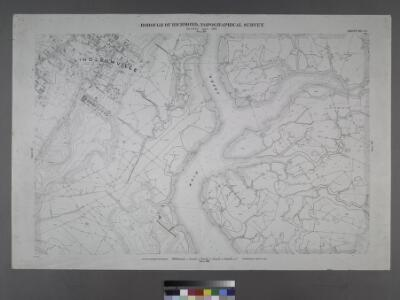 Sheet No. 44. [Includes Linoleumville (Travis), (New Springville), Main Creek and Springville Creek]; Borough of Richmond, Topographical Survey.